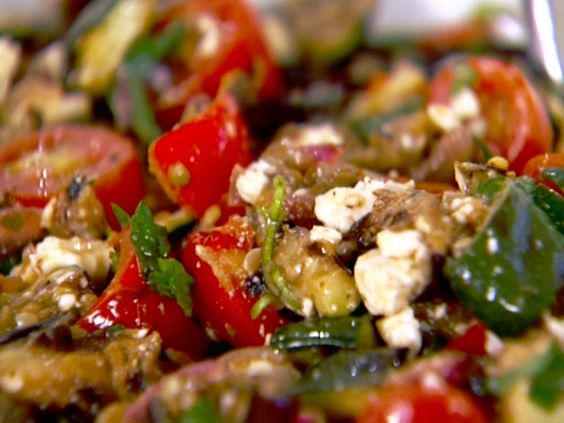 Grilled Vegetable Salad with Feta and Mint | Recipe | Grilled ...