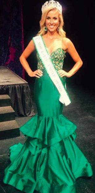 Couture #SherriHill pageant gown. Emerald green pageant gown. Miss ...