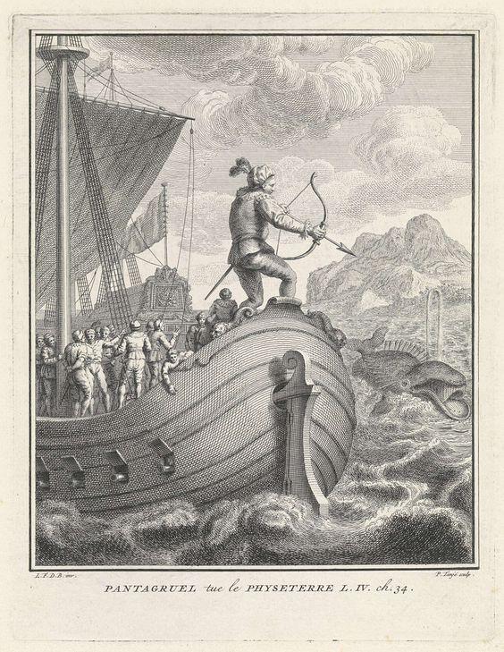Pantagruel doodt de monsterlijke walvis, Pieter Tanjé, 1761