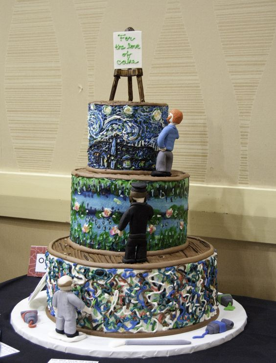 Artist Themed Cake : 10 Amazing Art-Inspired Cakes Jackson pollock, Vincent ...