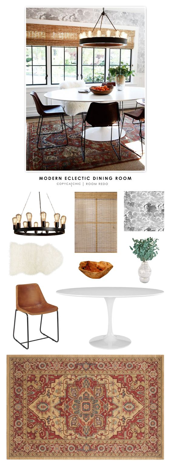 Copy Cat Chic: Copy Cat Chic Room Redo | Modern Eclectic Dining Room by @audreycdyer