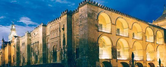 Vista nocturna de la Mezquita de Córdoba