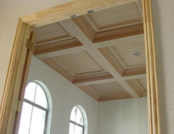 Home ceilings and ceiling design on pinterest for Box beam ceiling