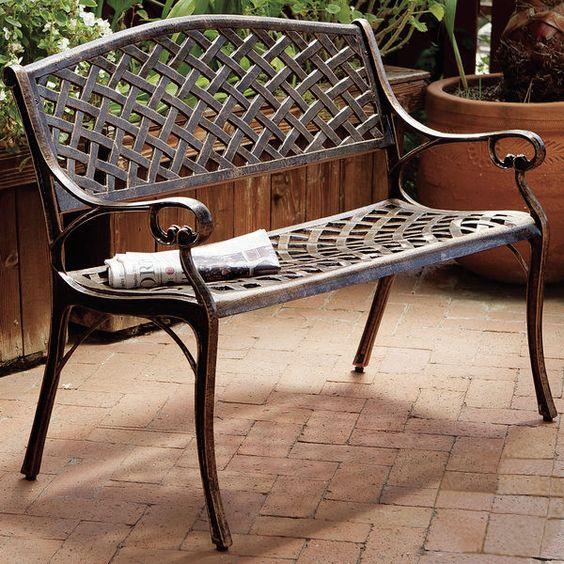 Nouvel Aluminum Garden Bench