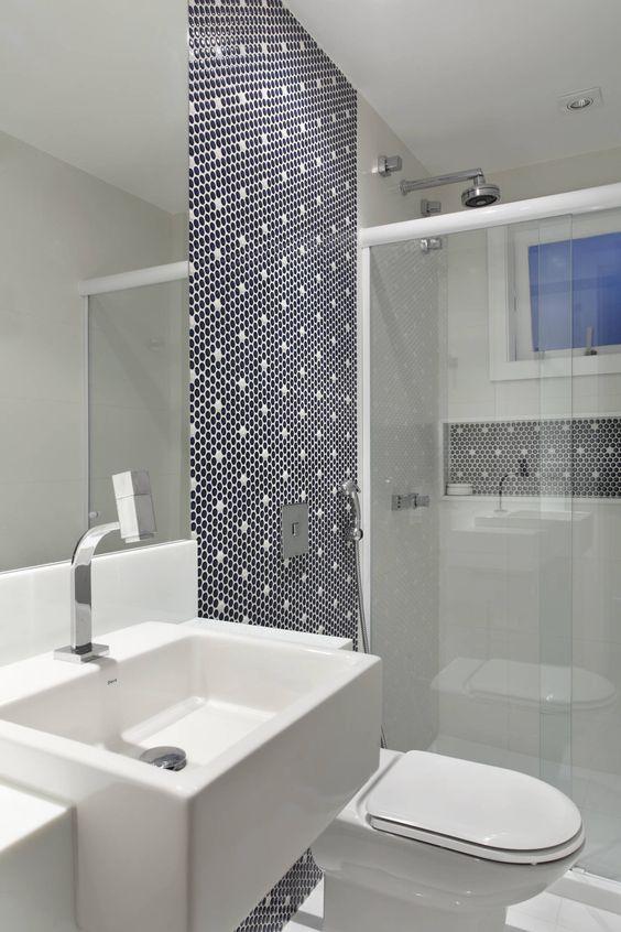 Fotos de banheiros modernos casa jardim ubá vm  Banheiro pequeno, Banheiros -> Banheiros Modernos Na Cor Preta
