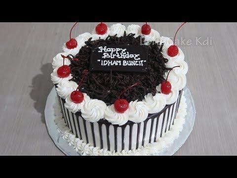 Kue Ulang Tahun Coklat Dekorasi Kue Ultah Cake Tart Sederhana By Lenscake Kdi Youtube Kue Tart Kue Hiasan Kue