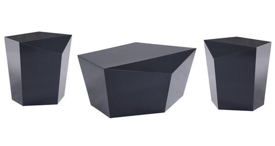 Gem Ink Contemporary Ink Lacquer MDF Coffee Table Set