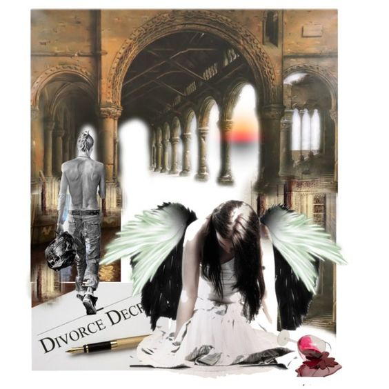 """Angel Unloved"" by brenda clardy bell collage"