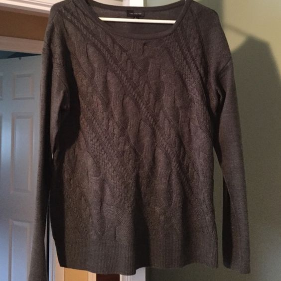 The limited size large grey sweater Good condition grey sweater The Limited Sweaters
