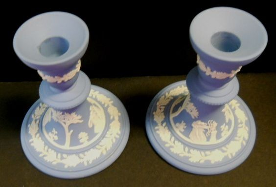 Wedgwood Queen's Ware Candle Sticks