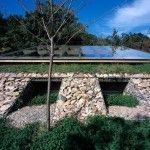 Glass Roof Installation of Underground House Design