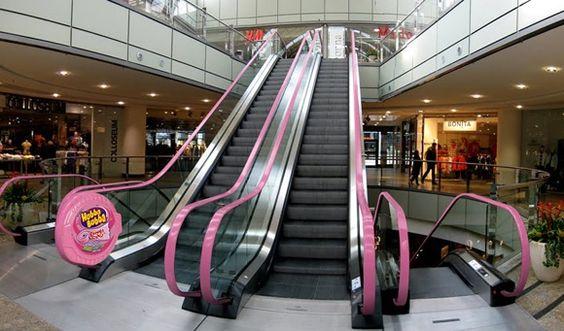 Hubba Bubba tape gum ad. Creative escalator. http://arcreactions.com/