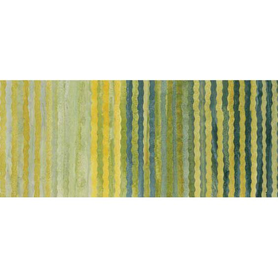 Anthology Bali Batiks Citrus Green Wavy Stripes
