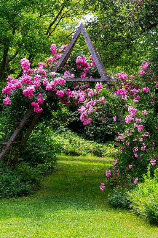 9 Enticing Garden Path Ideas Town Country Living Rose Garden Landscape Garden Paths Path Ideas