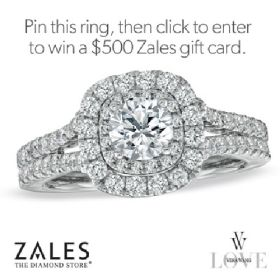 Vera Wang LOVE Collection: 1-1/2 CT.T.W. Diamond Frame Split Shank Engagement Ring in 14K White Gold #timelessLOVE