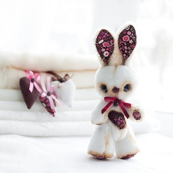 Easter Bunny  Handmade Fur Bunny  Easter by SoftlyBearPaw on Etsy, $60.00: Etsy, Diy Inspiration, 60 00, Art Dolls, Easter Bunny