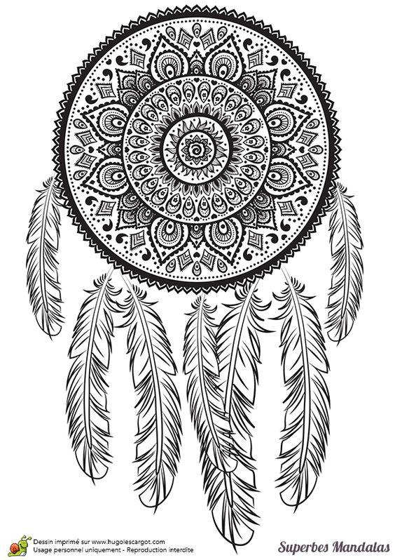 Coloriages superbes mandalas tribal indien