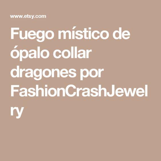 Fuego místico de ópalo collar dragones por FashionCrashJewelry