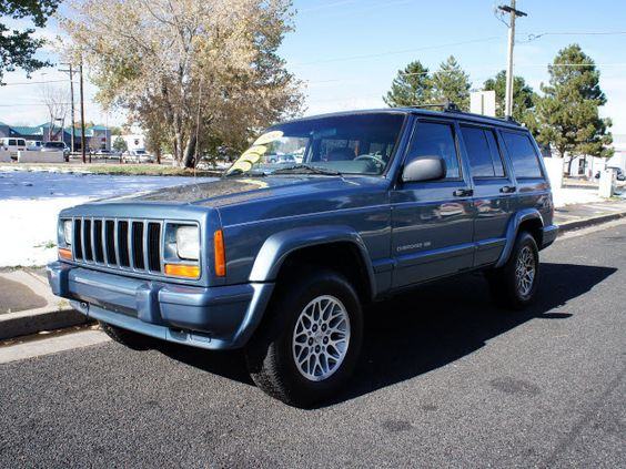 1999 Jeep Cherokee Limited. Loved these!! Miss the distinctive lines of the old school Jeep brand.