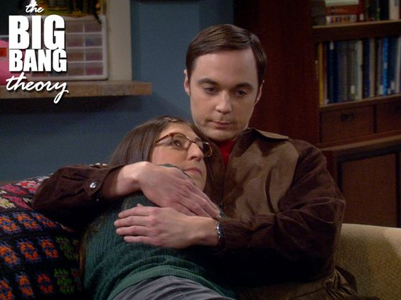 Image result for amy and sheldon snuggle
