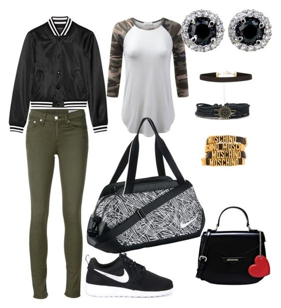 """""""Dance class 2"""" by epiczp ❤ liked on Polyvore featuring rag & bone/JEAN, R13, NIKE, Love Moschino and Moschino"""