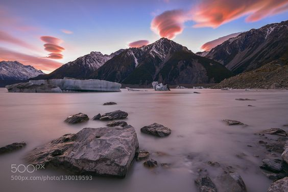Lenticular clouds at dawn by zakies