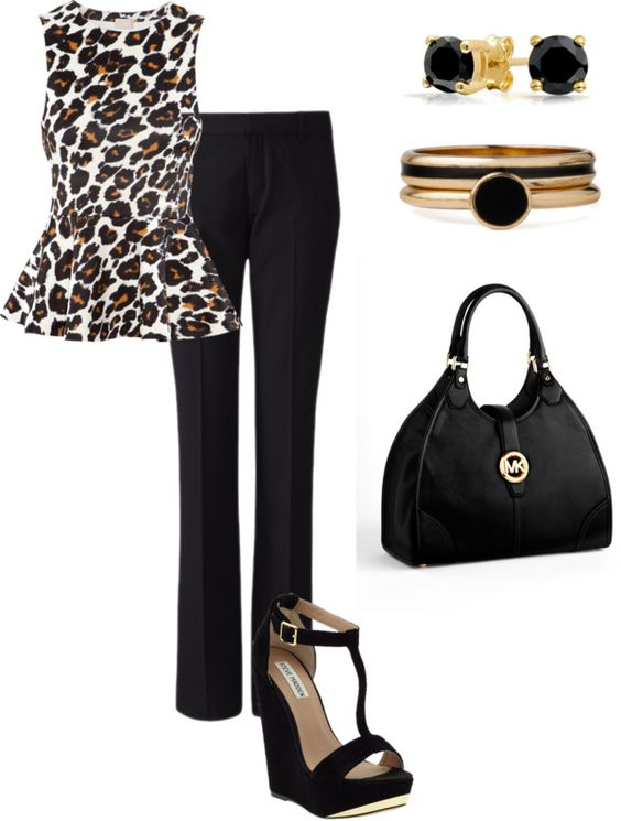 """leopard rawr"" by flsweet82 on Polyvore"