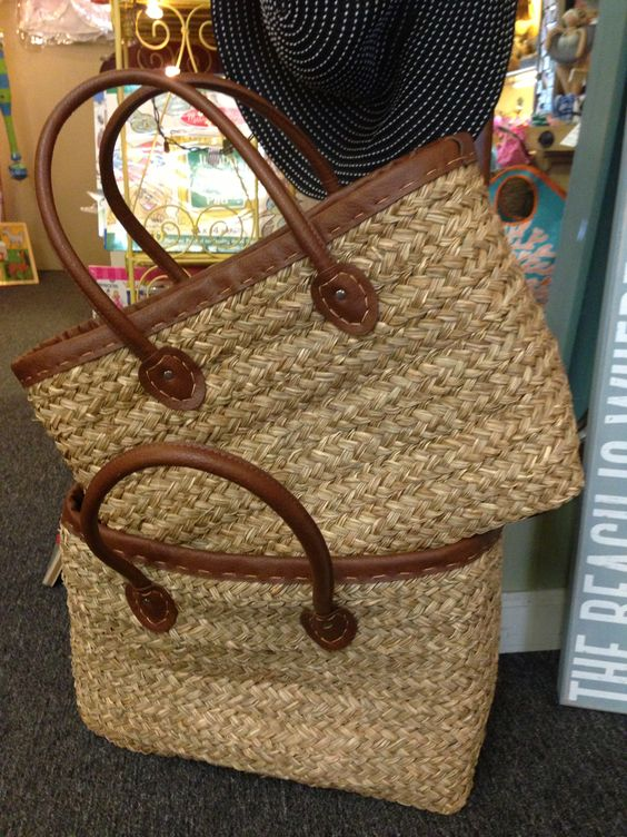 Woven Straw Totes