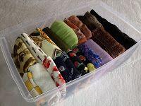 Espaço Ordenado: Como organizar lenços, echarpes e afins...