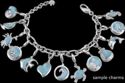 MarahLago Charm Bracelet - One of a Kind - All 22 Charms plus the Bracelet!