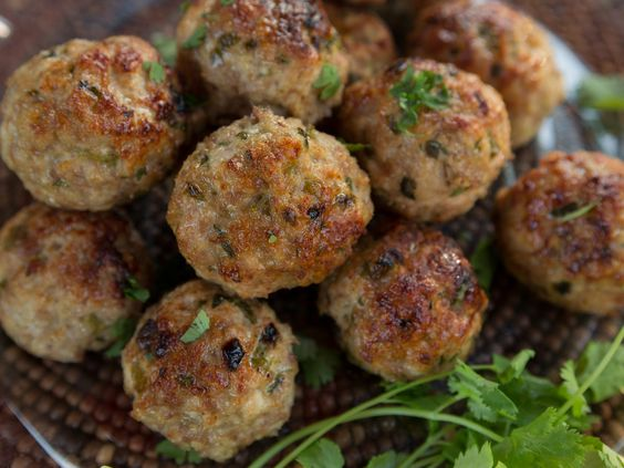 Turkey Meatballs with Fire-Roasted Green Chiles recipe from Guy Fieri via Food Network