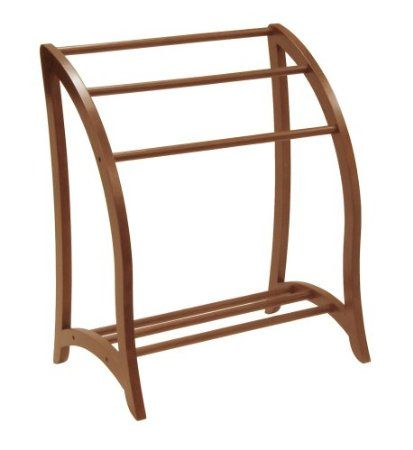 Amazon.com: Winsome Wood Blanket Rack, Antique Walnut: Home & Kitchen