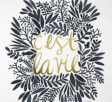 C'est la Vie – Grey & Gold by Cat Coquillette