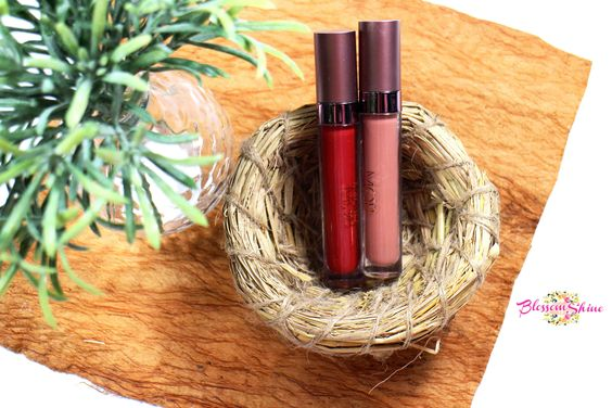MOB Metallized Lip Stain in Pacha & MOB Matte Lip Cream in Bare With Me