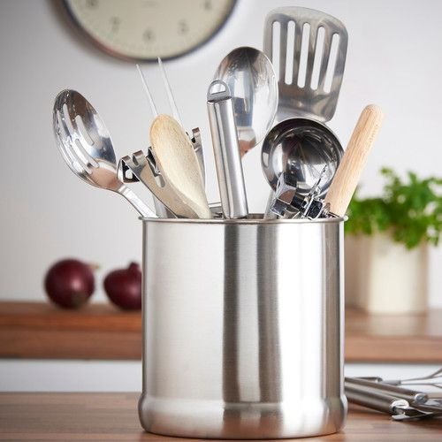 "Found it at Wayfair - 7"" Stainless Steel Kitchen Utensil Holder"