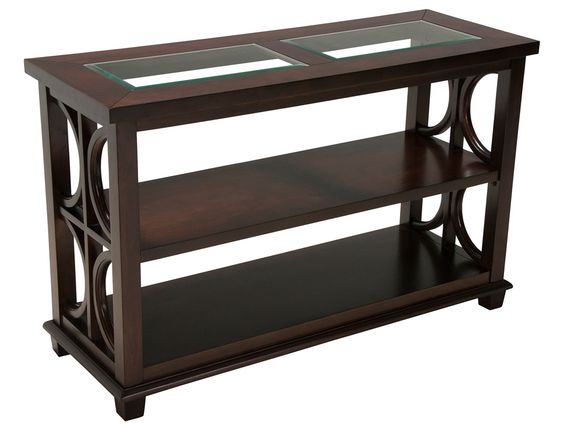 Jeromes Furniture Offers The Douglas Accent Tables Sofa Table In Cherry Finish At Best Prices Possible With Same Day Delivery Shop Now