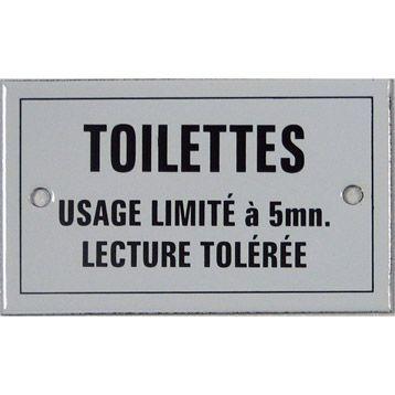 Plaque Toilettes usage limité en acier émaillé   Leroy Merlin