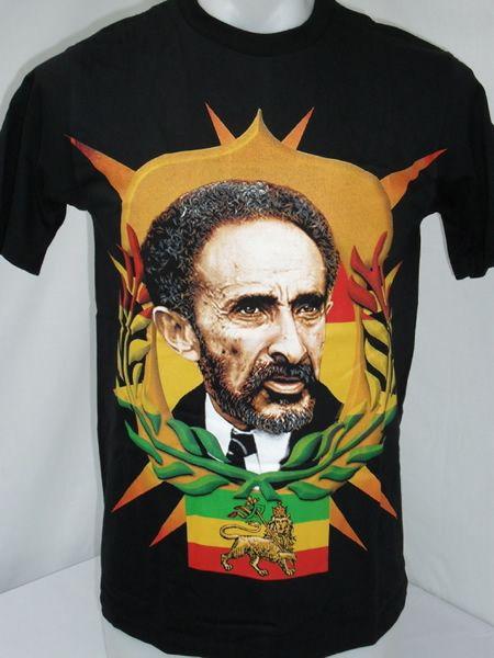 Haile Selassie Riding Lion haile selassie lion of judah t-shirt http ...