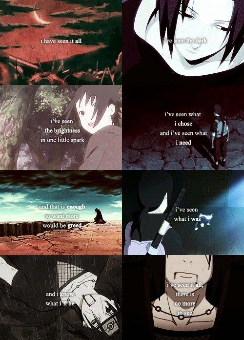 Uchiha Itachi, sad, text, quote, Sasuke; Naruto