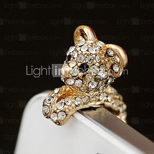 USD $ 3.99 - Rhinestone Pretty Doggy 3.5mm Anti-dust Plug for iphone (Assorted Color)