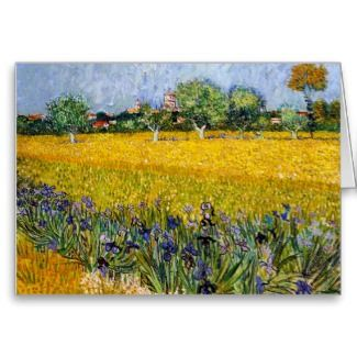View of Arles with Irises Vincent van Gogh paint Greeting Card SOLD !