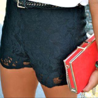 lace shorts.