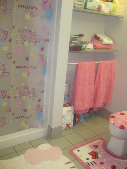 Model To Da Loos Hello Kitty Bathroom Tiles