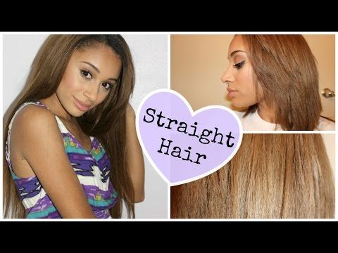 How To: Straighten CURLY Hair - YouTube