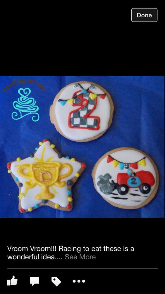 Racing cookies! Yum!