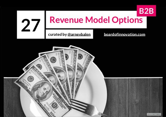 27 Revenue Model Options B2B