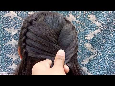 Beautiful Long Hair Hairstyle For Party Hairstyle Youtube Hair Styles Cute Hairstyles For Medium Hair Hair Style Recogido