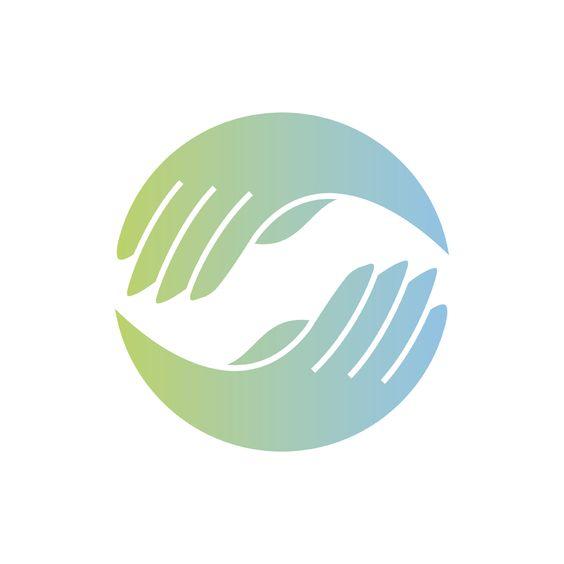 Massage therapy hand logo
