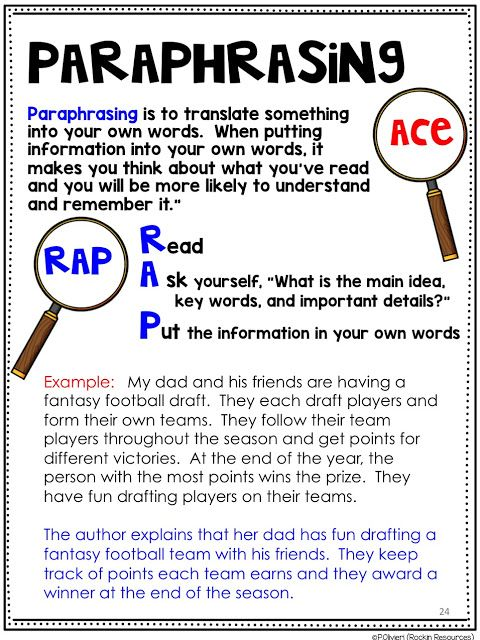 How To Teach Text Evidence A Step By Guide Lesson Plan Paraphrasing Activities Apa Definition Of