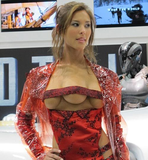 Actress Kaitlyn Leeb, who plays a three-breasted hooker.